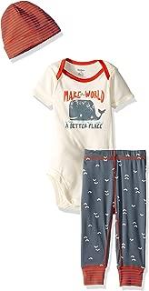 GERBER Baby Boys 3-Piece Bodysuit, Pant and Cap Set