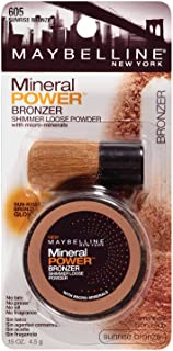 Maybelline New York Mineral Power Bronzer Shimmer Loose Powder, Sunrise Bronze 605, 0.15 Ounce