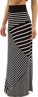 Best black white striped maxi skirt Reviews