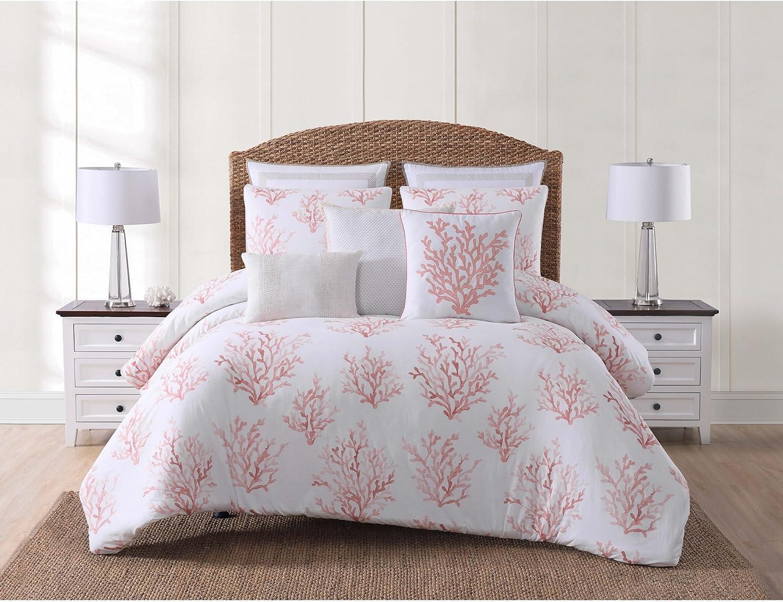 Oceanfront Resort CS2359COFQ-1500 Comforter Set, Full Queen, Cove Coral