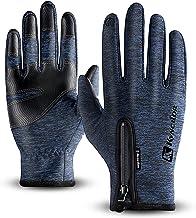 T98 Touchscreen Handschuhe Fahrradhandschuhe Laufhandschuhe Winter Warme Sporthandschuhe Herren Damen Winddicht Wasserdichter Winterhandschuhe für Radfahren, Wandern, Skifahren