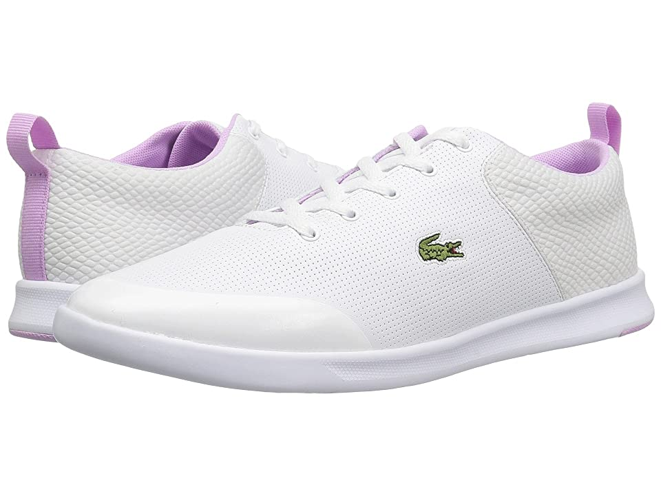 Lacoste Avenir 118 2 (White/Light Purple) Women