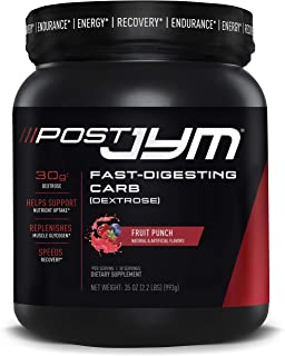 JYM Supplement Science, Post JYM Fast-Digesting Carb, Post-Workout Powder, Fruit Punch, 30 Servings
