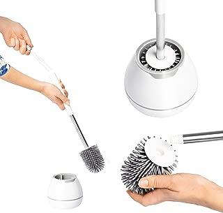 UPP – Escobilla de Inodoro de Silicona, diseño Coolgrey, Cepillo de Limpieza para baño, Silikon-WC-Bürste mit Station