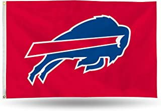 NFL Buffalo Bills 3-Foot by 5-Foot Single Sided Banner Flag with Grommets