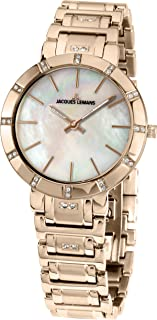 Jacques Lemans 1-1825E - Reloj para Mujeres, Correa de Acero Inoxidable