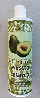Original Avocado Shampoo By Spanish Garden 16 Oz. &