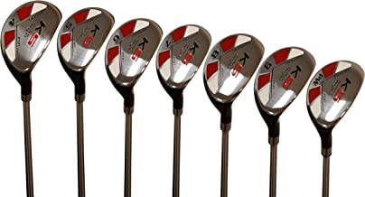 "Majek Men's Golf All Hybrid Complete Full Set, which Includes: #4, 5, 6, 7, 8, 9, PW Senior Flex Right Handed New Utility ""A"" Flex Club"