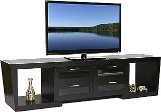Plateau Valencia 5187 B Wood Expandable TV Stand, 51-Inch to 87-Inch, Black Oak Finish