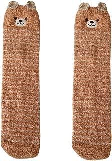 Girls Over Knee Socks Leg Warmers Thigh High Fuzzy Animal Coral Velvet Socks