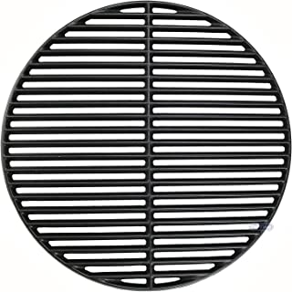 Uniflasy Cast Iron Cooking Grid Grates for Large Big Green Egg/ (L) BGE, Vision Grill VGKSS-CC2, B-11N1A1-Y2A Kamado Charcoal Grill Accessories, 18 3/16 Inches
