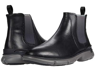 Johnston & Murphy Tanner Chelsea (Black Full Grain Leather) Men