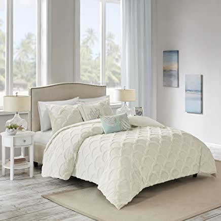 featured product Harbor House Cannon Beach 3 Piece Cotton Chenille Duvet Cover Set White King