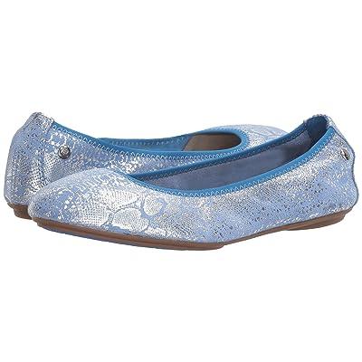Hush Puppies Chaste Ballet (Azure Blue Metallic Snake Suede) Women