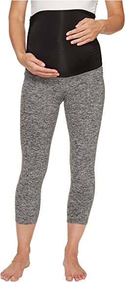 Fold Down Maternity Capri Leggings