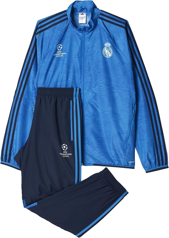 Adidas Real Madrid Ucl Präsentationsanzug Blau Chándal Hombre Amazon Es Ropa Y Accesorios