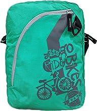 Strabo Hipster Printed Nylon Sling Bag in Aqua Blue