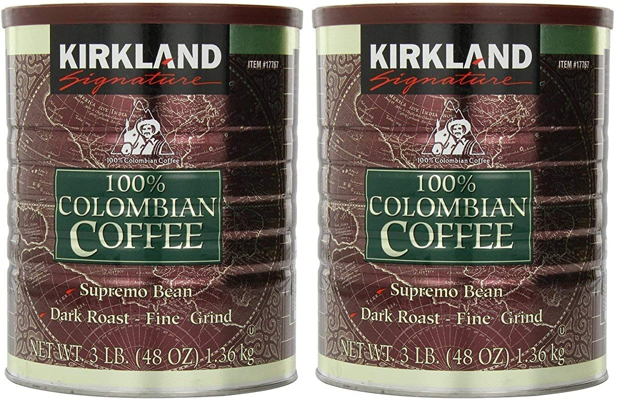 Kirkland Signature 100 Colombian Coffee Supremo Bean Dark Roast Fine Grind 6 Pound Signature Ykgj