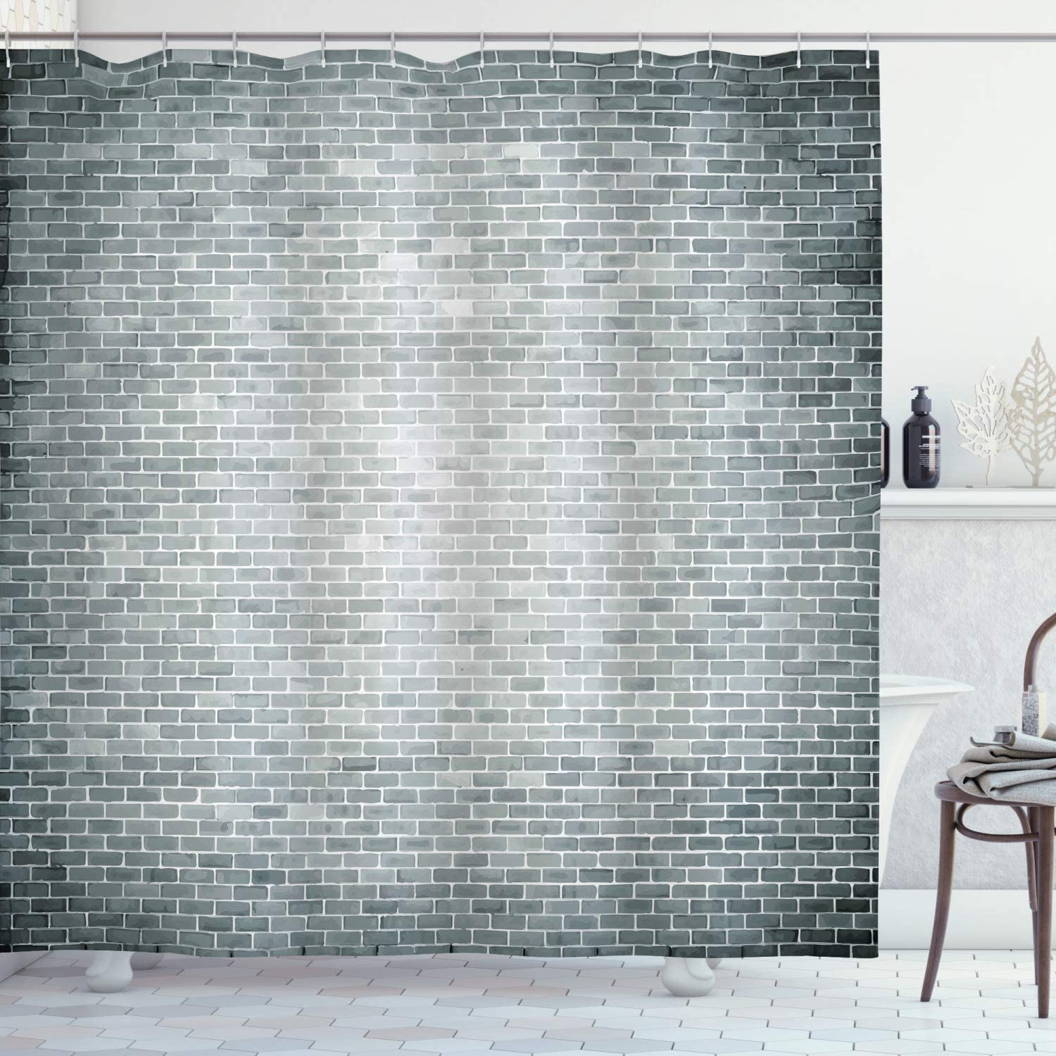 Ambesonne Modern Miami Mall shipfree Shower Curtain Grunge Wall Brick Cons Featured