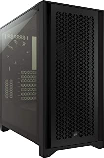 Corsair 4000D Airflow Tempered Glass Mid-Tower ATX Case (High-Airflow Front Panel, Tempered Glass Side Panel, RapidRoute C...