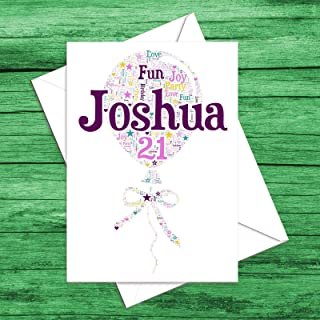 Personalised Birthday Gift Card for a 16th, 17th, 18th, 21st, 30th, 40th, 50th, 60th, 70th any age!