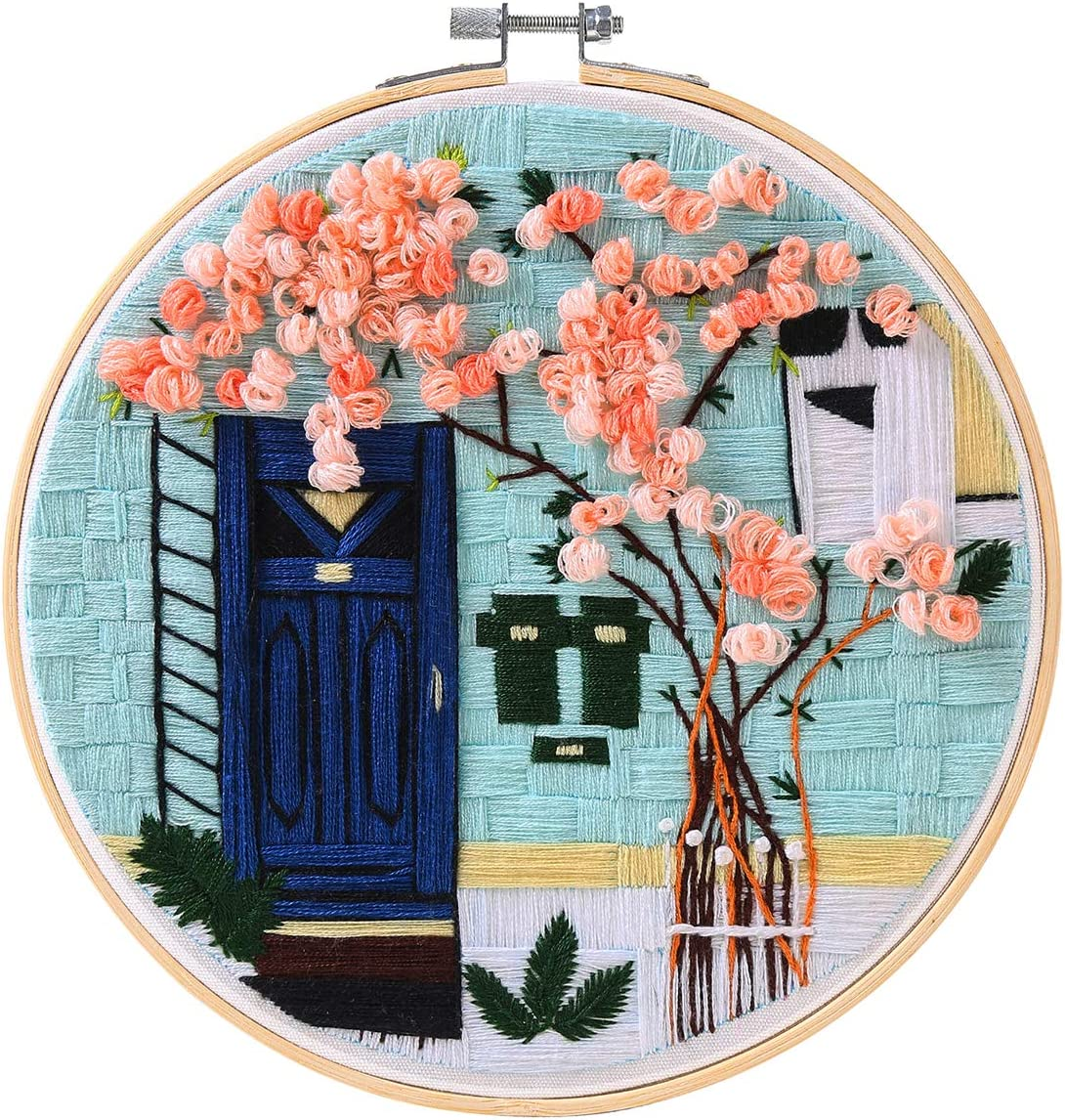 MEIAN Embroidery Kit for Adults It is very popular Stamped Flower Fort Worth Mall C Beginners with
