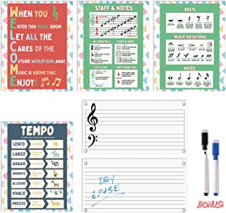 Music Posters for Classroom - Five Pack of Music Teaching Po