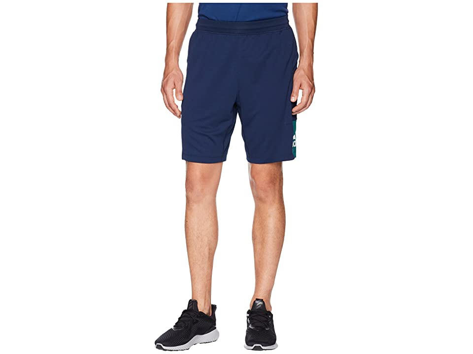 adidas Back To School Training Shorts (Collegiate Navy/Noble Green/White) Men