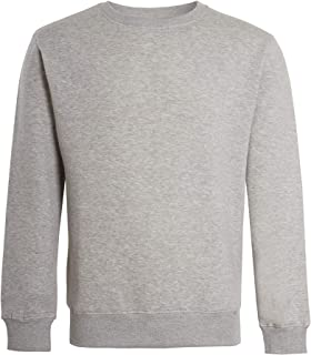 imporio 11 Men Classic Plain Crew Neck Fleece Sweatshirt Mens Casual Sweatshirt Jumper Top UK Size S-5XL
