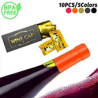 Wine Bottle Stopper Beverage Caps Condoms Style Toppers Air-Tight Wine Sealer Wine Accessories for Wine Party Novelty Gifts(10pcs)