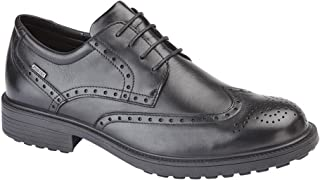 Mens Leather Water Resistant Brogue Gibson Shoes