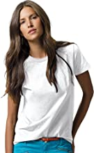 Hanes Women`s Relaxed Fit Jersey ComfortSoftCrewneck T-Shirt, White
