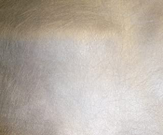 "7 Colors 54"" Wide Metallic Ford Upholstery Car Sofa Faux Leather Vinyl Fabric Per Yard (Silver)"