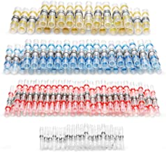 Kuject 120PCS Solder Seal Wire Connectors, Self-Solder Heat Shrink Butt Connector Solder..