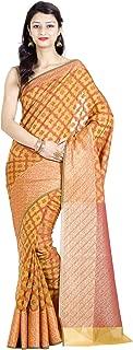 Chandrakala Women's Cotton Silk Blend Indian Ethnic Banarasi Saree with Unstitched Blousepiece(1124)