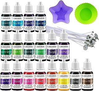 Retazly Candle Dye Vätska för ljustillverkning - 18 färger Sojavax Dye Färgämnen för vaxsmälta, koncentrerad ljusfärgfärg ...