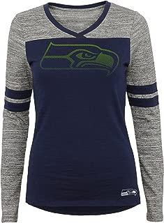 Outerstuff NFL Junior Girls Secret Fan Long Sleeve Football Tee, Seattle Seahawks, Dark Navy, XL(15-17)