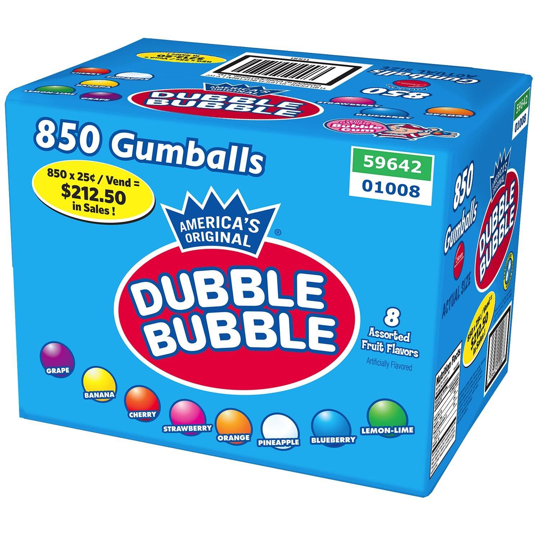 Dubble Bubble Fruit Weekly update 850 Trust Gumballs ct.