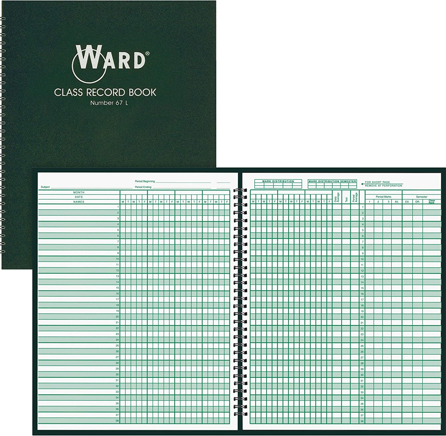 Ward Class New York Mall Record Arlington Mall Book White. of 4 Pack