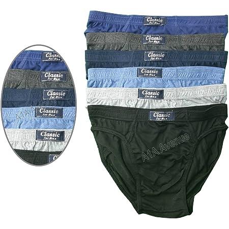 6 Pairs Mens Classic Sport Slips Briefs Pants Underwear Size Large