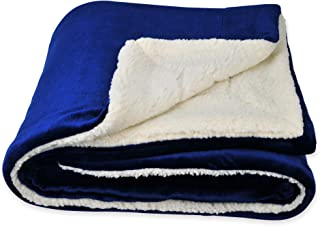 SOCHOW Sherpa Fleece Throw Blanket, Double-Sided Super Soft Luxurious Plush Blanket Throw Size, Blue