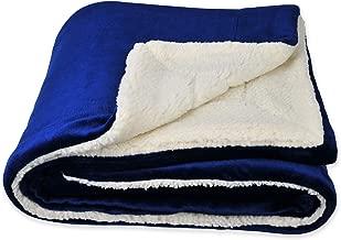 SOCHOW Sherpa Fleece Throw Blanket, Double-Sided Super Soft Luxurious Plush Blanket Throw Size, Blue