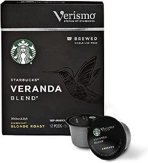 Starbucks Verismo Veranda Blend Brewed Coffee Single Serve Verismo Pods, Blonde Roast, 6 boxes of 12 (72 total Verismo pods)