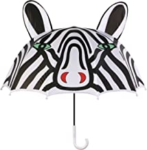 Kidorable Black and White Zebra Umbrella for Girls With Fun Pop-Up Zebra Ears