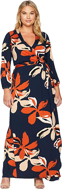 Plus Size Greenwich Wrap Dress
