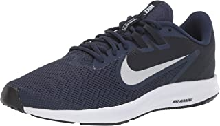 Men's Downshifter 9 Running Shoe, midnight navy/pure platinum, 6 Regular US