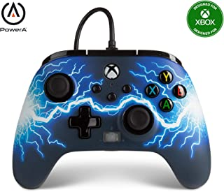 BD&A PowerA Enhanced Wired Controller for Xbox Series X|S - Arc Lightning, gamepad, wired video game controller, gaming co...