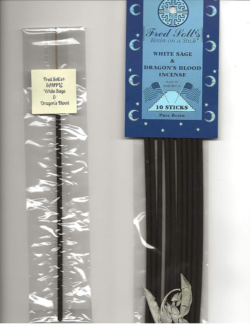 煙論理領収書FRED SOLL'S 樹脂製インクオンザスティックホワイトセージ&ドラゴンブラッドインセンス 1 STICK