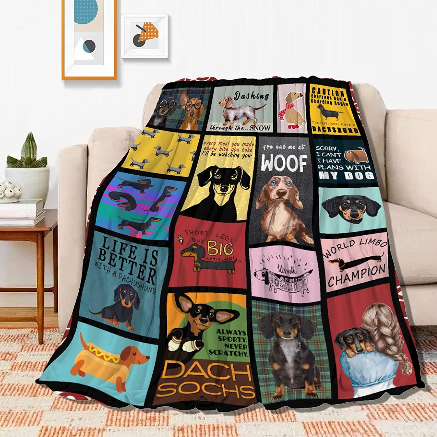 Dachshund New popularity Dog 3D Printed Milwaukee Mall Blanket Throws and Flanne Blankets Soft
