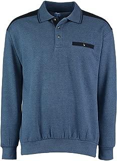 Mens Long Sleeve Polo Collar Sweatshirt